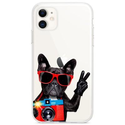 Kryt pro iPhone 11 Francouzský buldoček s foťákem