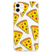 Kryt pro iPhone 11 Sýrová pizza se srdíčky