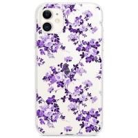 Kryt pro iPhone 11 Vzor fialové květiny