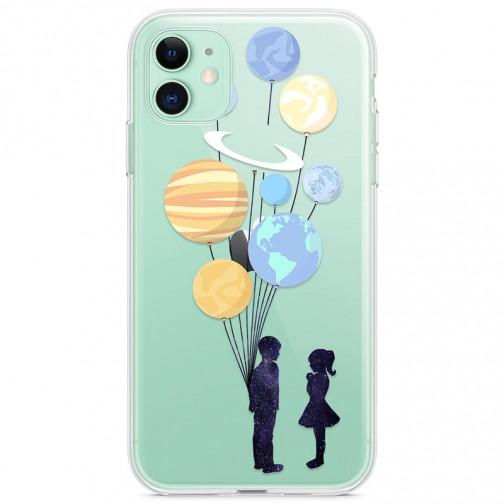 Kryt pro iPhone 11 Pár s balónky jako planety