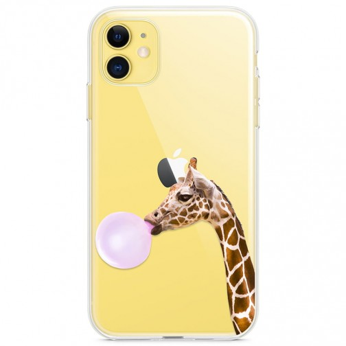 Kryt pro iPhone 11 Žirafa s bublinou