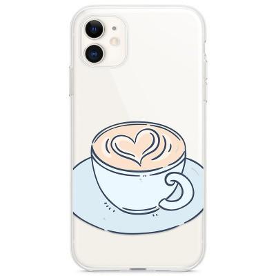 Kryt pro iPhone 11 Káva se srdíčkem