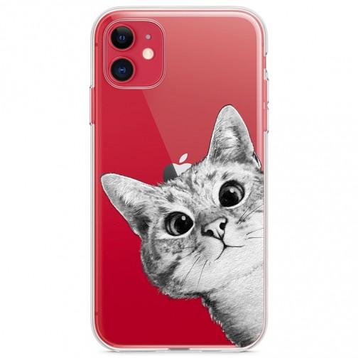 Kryt pro iPhone 11 Koukající kočka