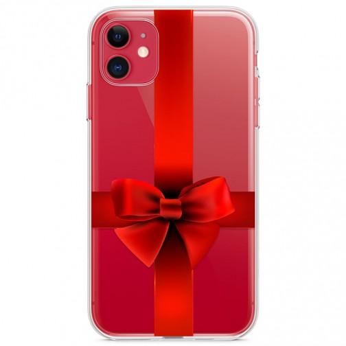 Kryt pro iPhone 11 Rudá mašle
