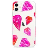 Kryt pro iPhone 11 Růžové diamanty