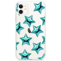 Kryt pro iPhone 11 Vzor tyrkysové hvězdy