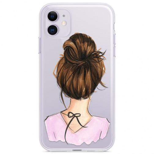 Kryt pro iPhone 11 Elegantní žena s drdolem