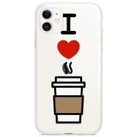 Kryt pro iPhone 11 Miluji kávu