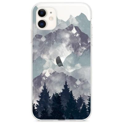 Kryt pro iPhone 11 Hory se stromy