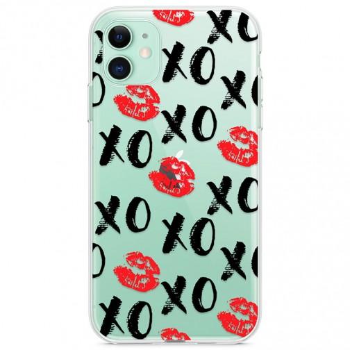 """Kryt pro iPhone 11 Pusa a objetí """"Xo"""""""