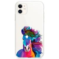Kryt pro iPhone 11 Barevný kůň