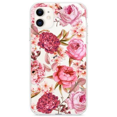Kryt pro iPhone 11 Květiny vodovými barvami