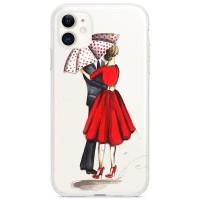 Kryt pro iPhone 11 Zamilovaný pár pod deštníkem