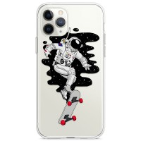 Kryt pro iPhone 11 Pro Kosmonaut na skateboardu