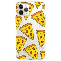 Kryt pro iPhone 11 Pro Sýrová pizza se srdíčky