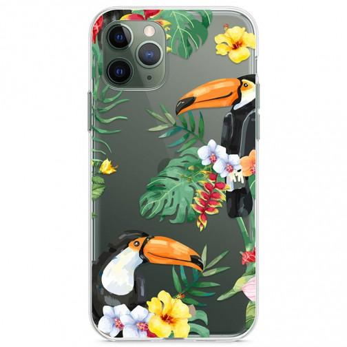 Kryt pro iPhone 11 Pro Tukani v džungli
