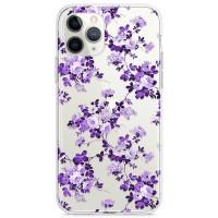 Kryt pro iPhone 11 Pro Vzor fialové květiny