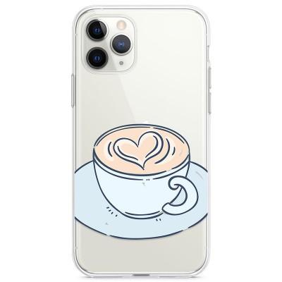 Kryt pro iPhone 11 Pro Káva se srdíčkem