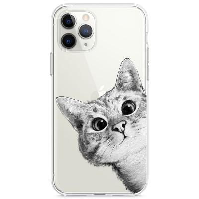 Kryt pro iPhone 11 Pro Koukající kočka
