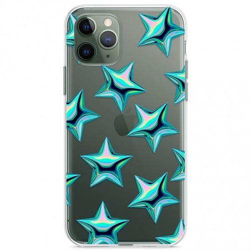 Kryt pro iPhone 11 Pro Vzor tyrkysové hvězdy