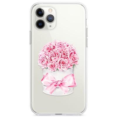 Kryt pro iPhone 11 Pro Krabice růží s mašlí