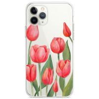 Kryt pro iPhone 11 Pro Vzor červené tulipány