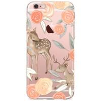 Kryt pro iPhone 6/6s Koloušek s růžemi v pastelových barvách
