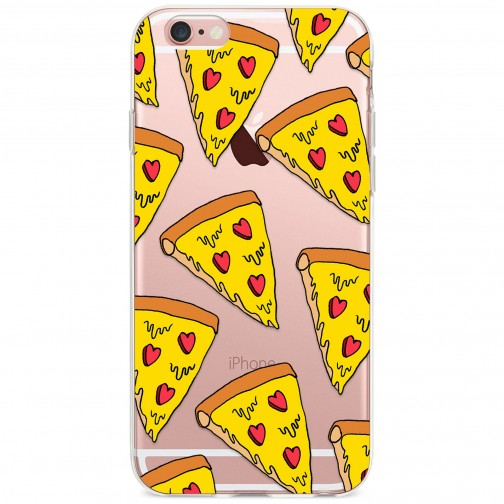 Kryt pro iPhone 6/6s Sýrová pizza se srdíčky