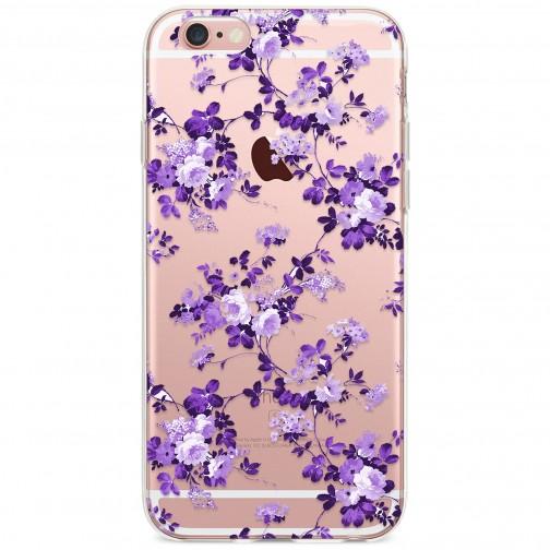 Kryt pro iPhone 6/6s Vzor fialové květiny
