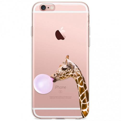 Kryt pro iPhone 6/6s Žirafa s bublinou