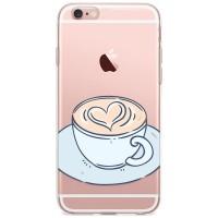 Kryt pro iPhone 6/6s Káva se srdíčkem