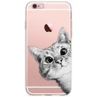 Kryt pro iPhone 6/6s Koukající kočka