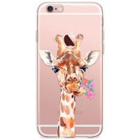 Kryt pro iPhone 6/6s Žirafa s kyticí