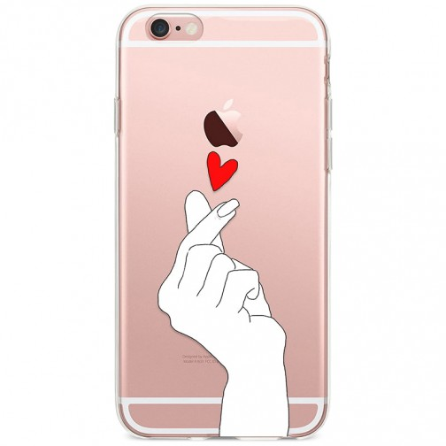Kryt pro iPhone 6/6s Srdíčko z prstů