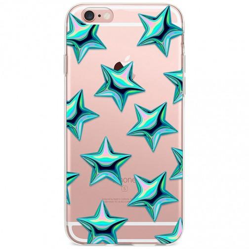Kryt pro iPhone 6/6s Vzor tyrkysové hvězdy