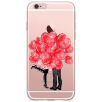 Kryt pro iPhone 6/6s Pusa za valentýnskými balónky