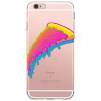Kryt pro iPhone 6/6s Neonový kousek pizzy