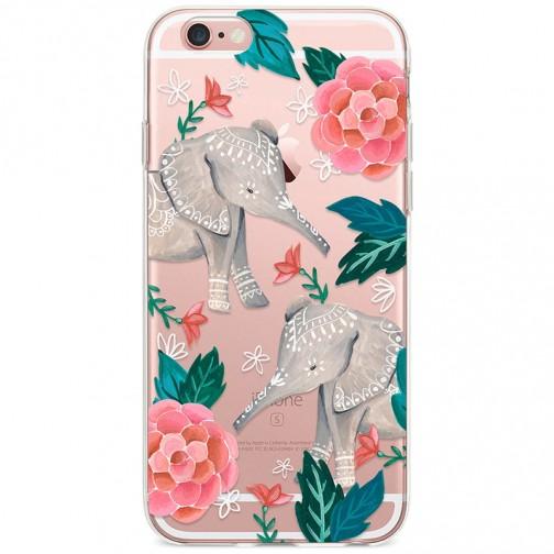 Kryt pro iPhone 6/6s Sloni s květinami