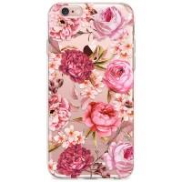 Kryt pro iPhone 6/6s Květiny vodovými barvami