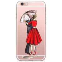 Kryt pro iPhone 6/6s Zamilovaný pár pod deštníkem