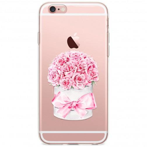 Kryt pro iPhone 6/6s Krabice růží s mašlí