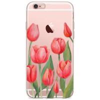 Kryt pro iPhone 6/6s Vzor červené tulipány