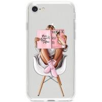 Kryt pro iPhone 7/8/SE (2020) Žena s módním časopisem