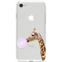 Kryt pro iPhone 7/8/SE (2020) Žirafa s bublinou