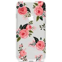 Kryt pro iPhone 7/8/SE (2020) Růžové elegantní růže
