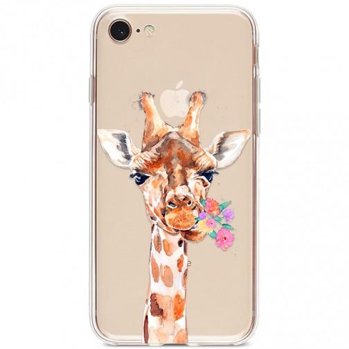 Kryt pro iPhone 7/8/SE (2020) Žirafa s kyticí
