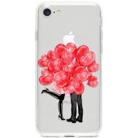 Kryt pro iPhone 7/8/SE (2020) Pusa za valentýnskými balónky