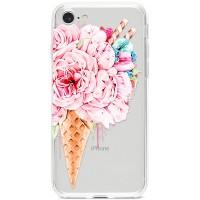 Kryt pro iPhone 7/8/SE (2020) Květinová zmrzlina