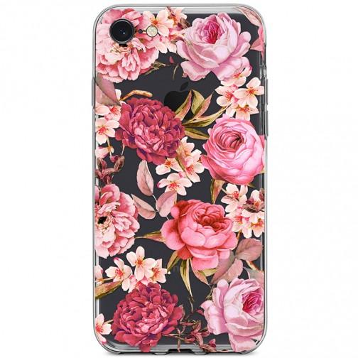 Kryt pro iPhone 7/8/SE (2020) Květiny vodovými barvami