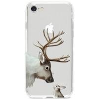 Kryt pro iPhone 7/8/SE (2020) Jelen se zajíčkem